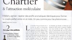 Gault et Millau lauds Chartier's range of wines