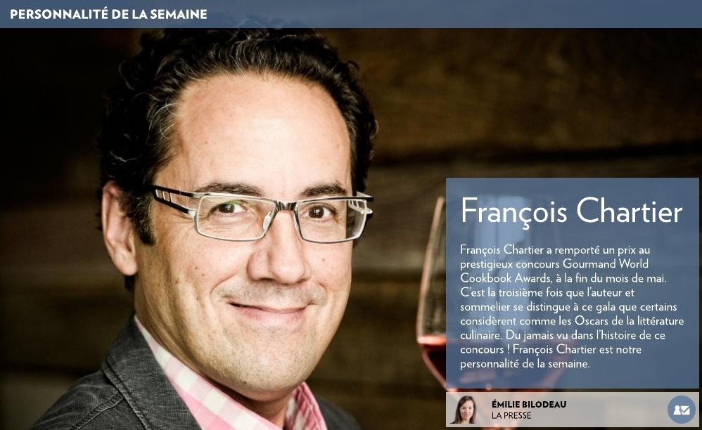 François Chartier : Personnalité de la semaine de La Presse