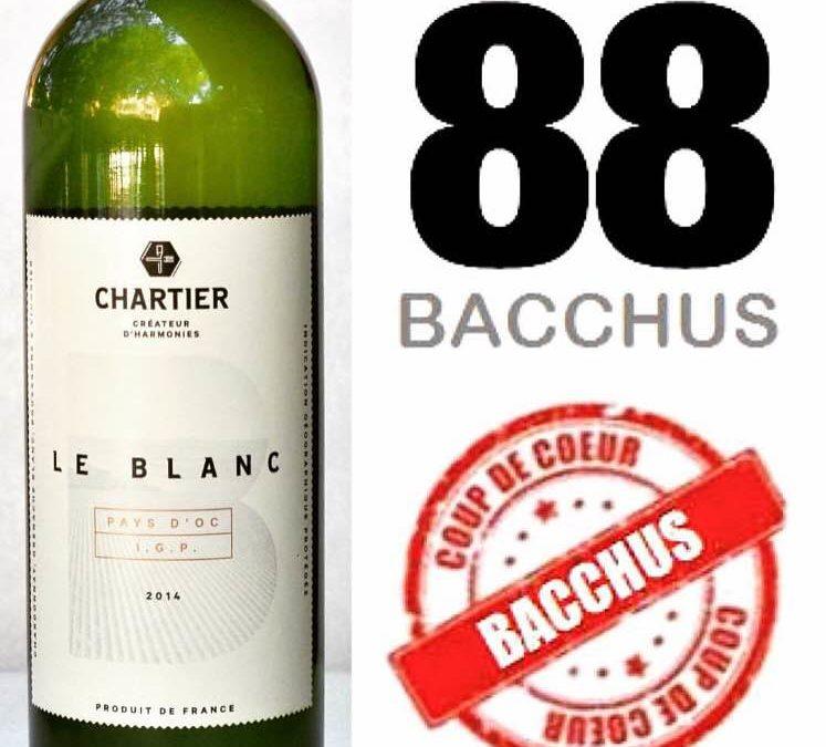 Le nouveau Blanc Chartierreçoit un coup de cœur du magazine Bacchus!