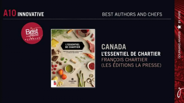 L'essentiel de Chartier wins in China Best Cookbook in the World – Innovation Category!