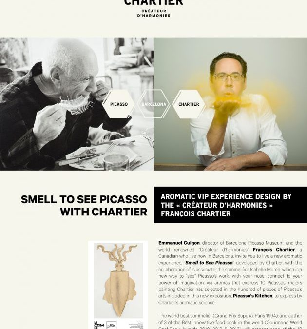 """""""SMELL TO SEE PICASSO"""" by François Chartier"""