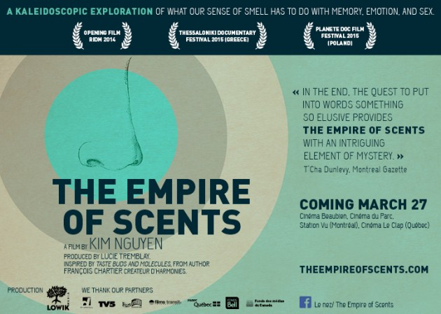 The Empire of Scents, inspired by the book Taste Buds and Molecules arrives in theaters in Québec and all around the world.