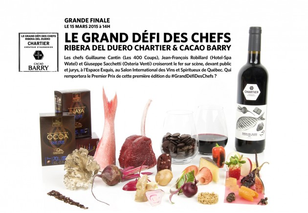 The Three Finalists of the Great Chef Ribera Del Duero Chartier and Cacao Barry