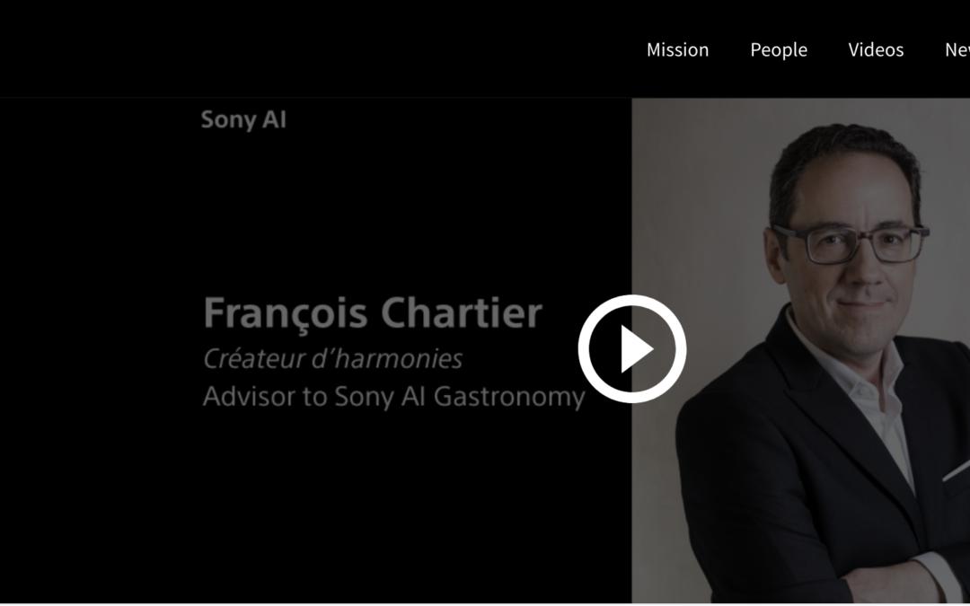 """Sony AI lance un projet phare de gastronomie avec la sortie de la """"Série d'entretiens avec les chefs"""", en collaboration avec François Chartier"""